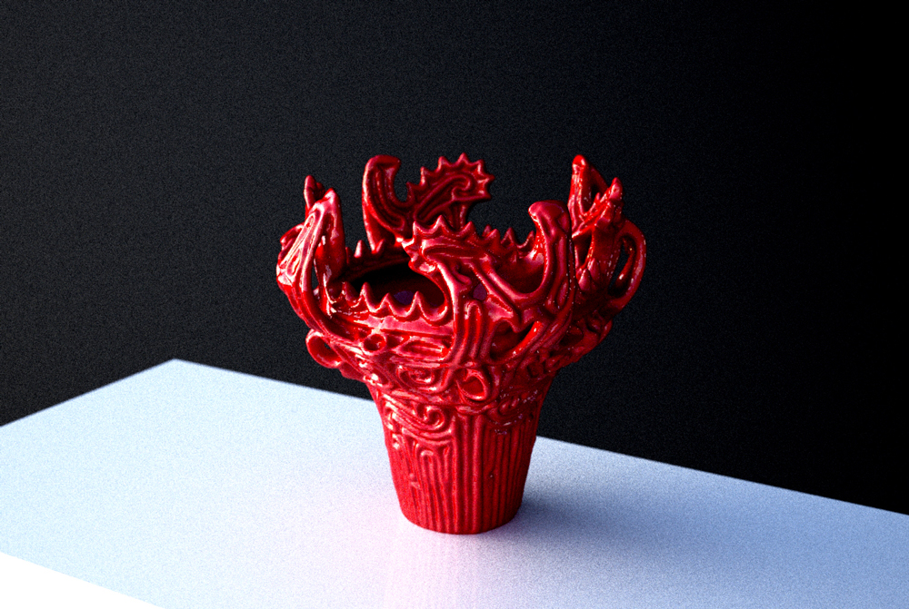 赤色の縄文土器 縄文時代の装飾品には赤色(朱色)がよく使われていることから色付けしてみた。
